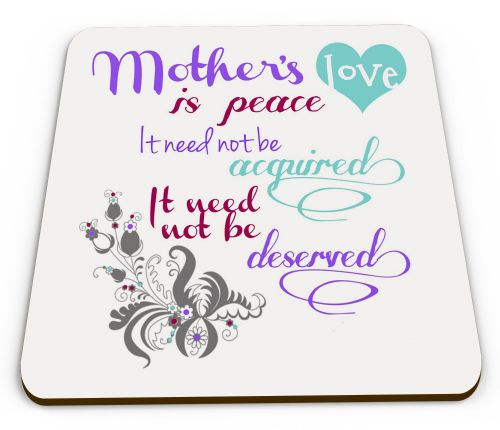Mothers Love Is Peace Glossy Mug Coasters